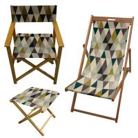 geometric pastel pattern garden director chair by more by ...