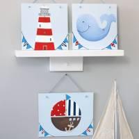 personalised nautical nursery wall art by liza j design ...