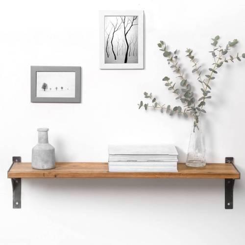 Medium Of Reclaimed Wood Shelves