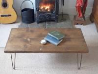 reclaimed scaffold board hairpin leg coffee table by ...