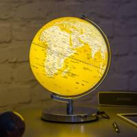 illuminated led globe light in english mustard by