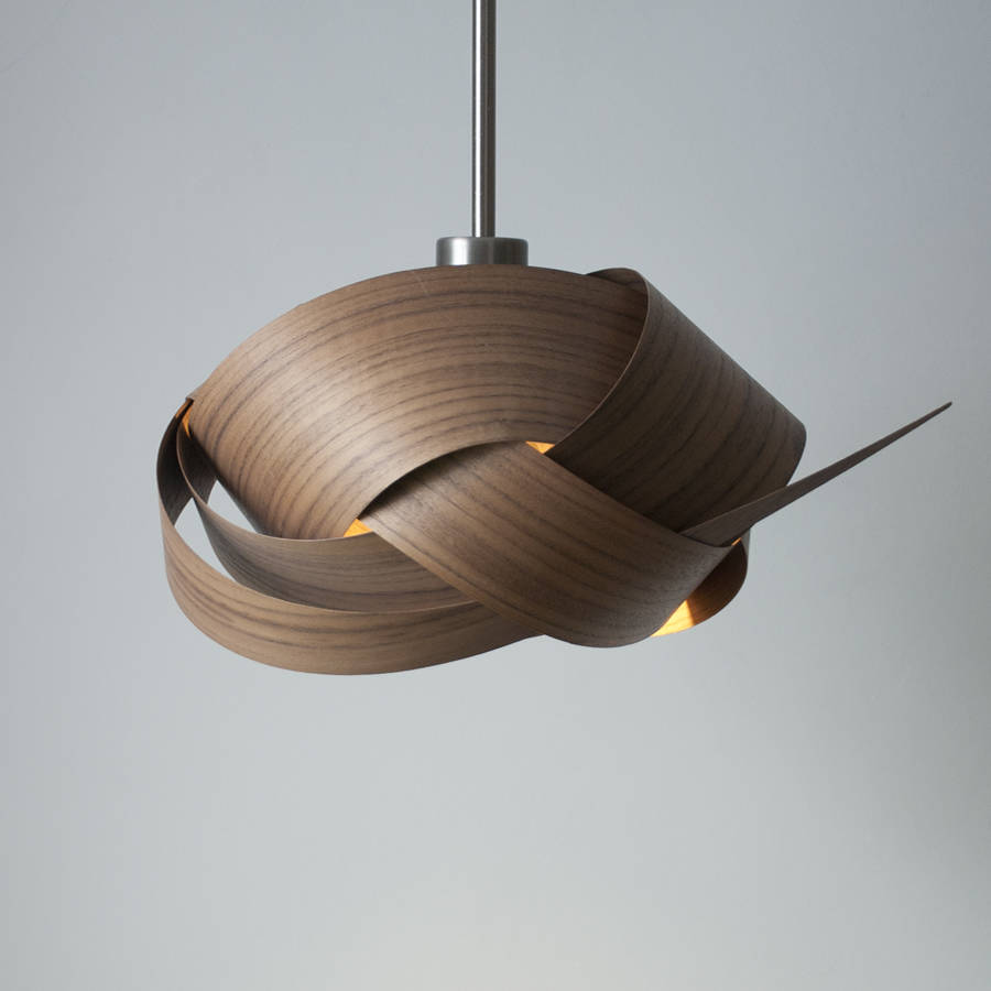 Jb Lighting.com Asymmetric Knot Wooden Lampshade By Jb Lighting Sculptures