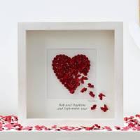 personalised ruby wedding anniversary wall art by inkywool ...