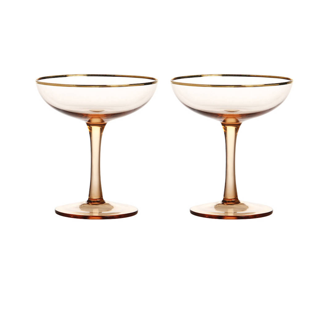 Champagne Coupe Champagne Coupe Rose Gold Set Of Two