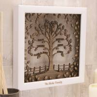 personalised wooden 3d traditional family tree wall art by ...