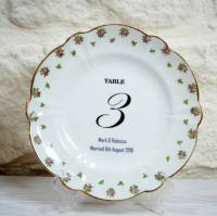 vintage wedding china plate table numbers numerical by