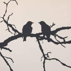 Splendiferous Black Birds On Branch Wall Sticker Black Birds On Branch Wall Sticker By Parkins Interiors Birds On A Branch Svg Birds On A Branch Wall Art