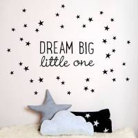 dream big little one ~ mini wall sticker by koko kids ...