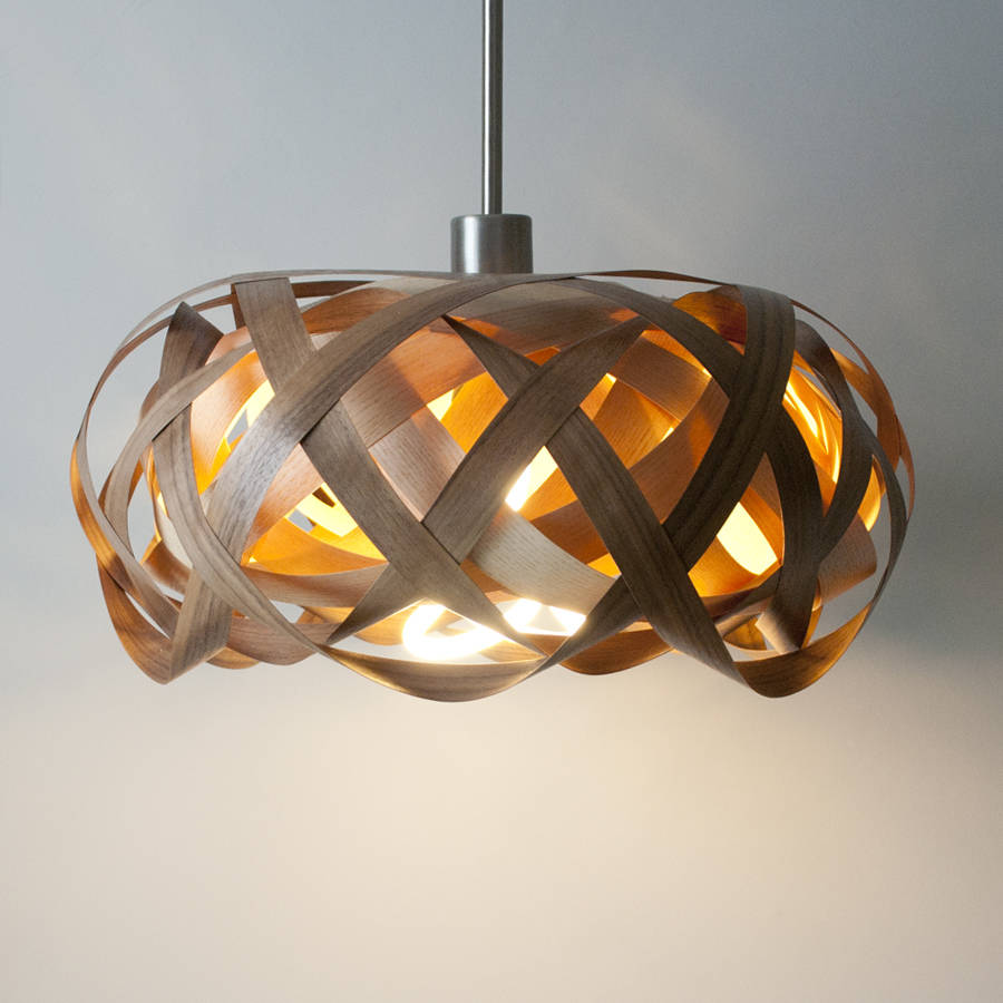 Deckenleuchte Rustikal Bird's Nest Knot Wooden Lampshade By Jb Lighting