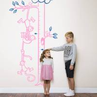monkeys hanging from tree height chart by wall art ...