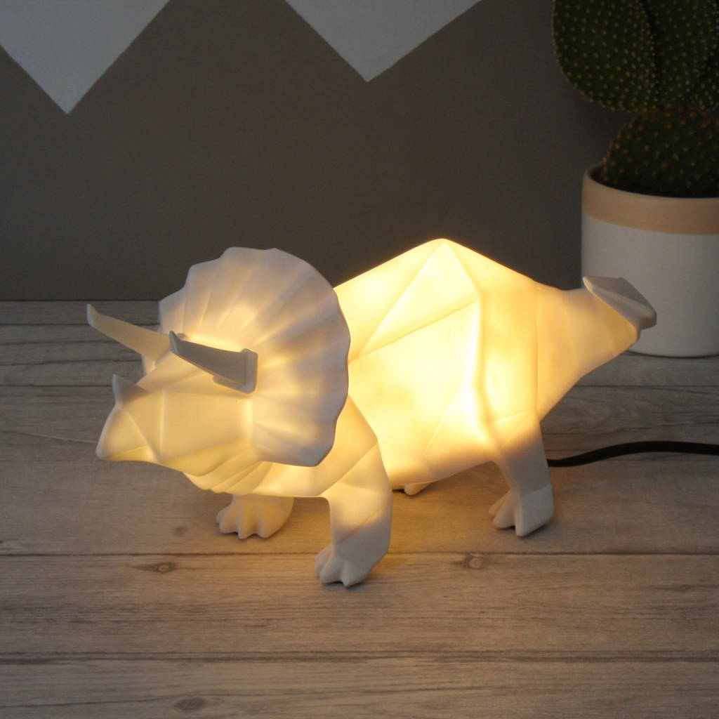 Lamp And Nightlight Origami Plug In Dinosaur Night Light By Lisa Angel