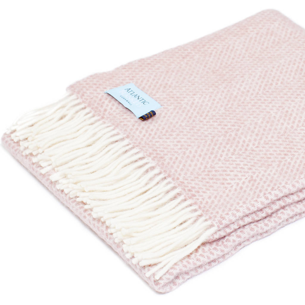 Pink Throw Pink Wool Throw By Atlantic Blankets Notonthehighstreet