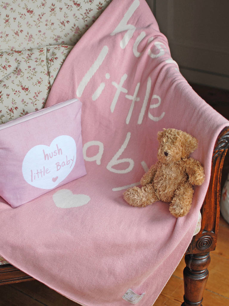 Newborn Babies And Cats Hush Little Baby Blanket By Diddywear Notonthehighstreet