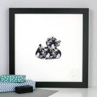 framed rubber duck bathroom picture by outshine art ...