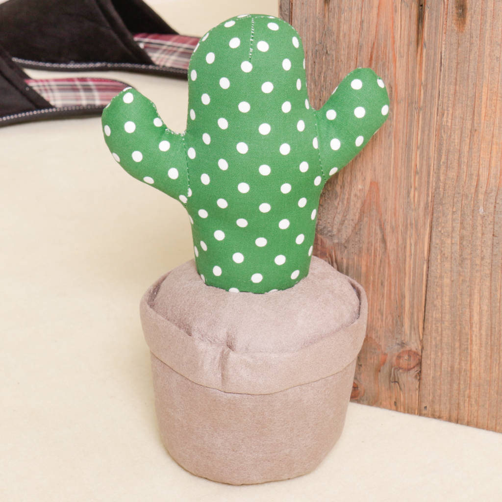 Fabric Door Stopper Cactus Fabric Door Stop By Dibor Notonthehighstreet