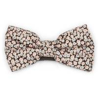 black and pale pink floral bow tie by dancys ...
