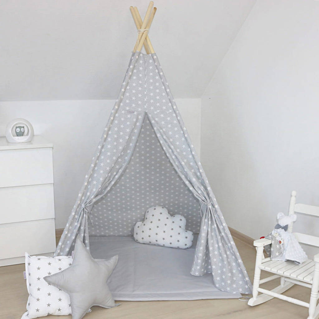 Teepee Kids Kids Teepee Tent Grey Set