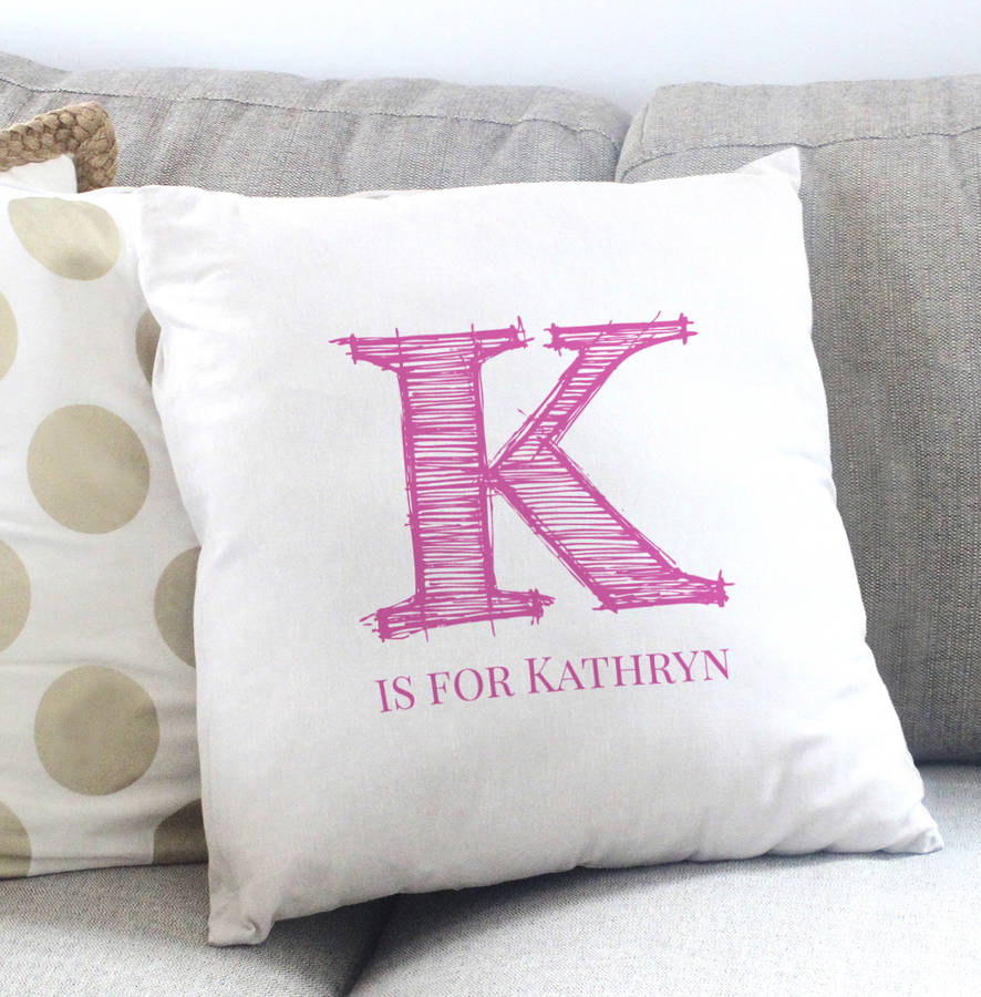 Personalised Monogram Cushion Cover By Sarah Hurley