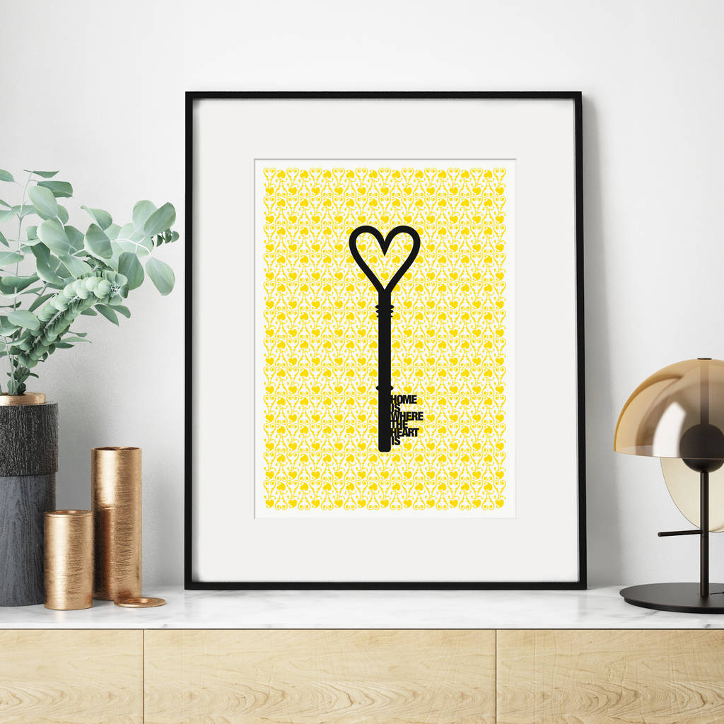 High End Housewarming Gifts 39home Is Where The Heart Is 39 Housewarming Print By