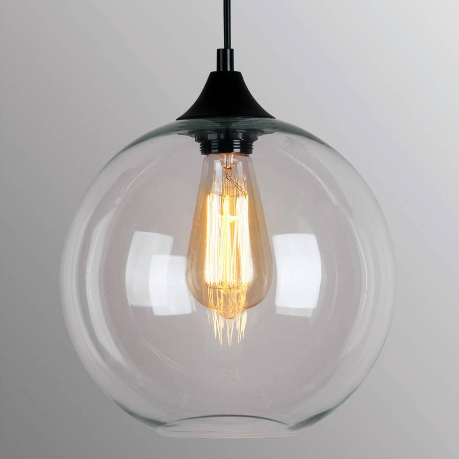 art deco glass pendant light by unique's co