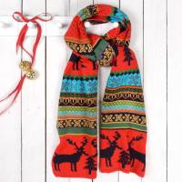 christmas jumper style woolly scarf by thelittleboysroom ...