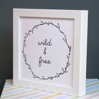 typographic framed nursery wall art by modo creative ...
