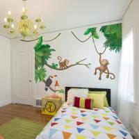 jungle monkey children's' wall sticker set by oakdene ...