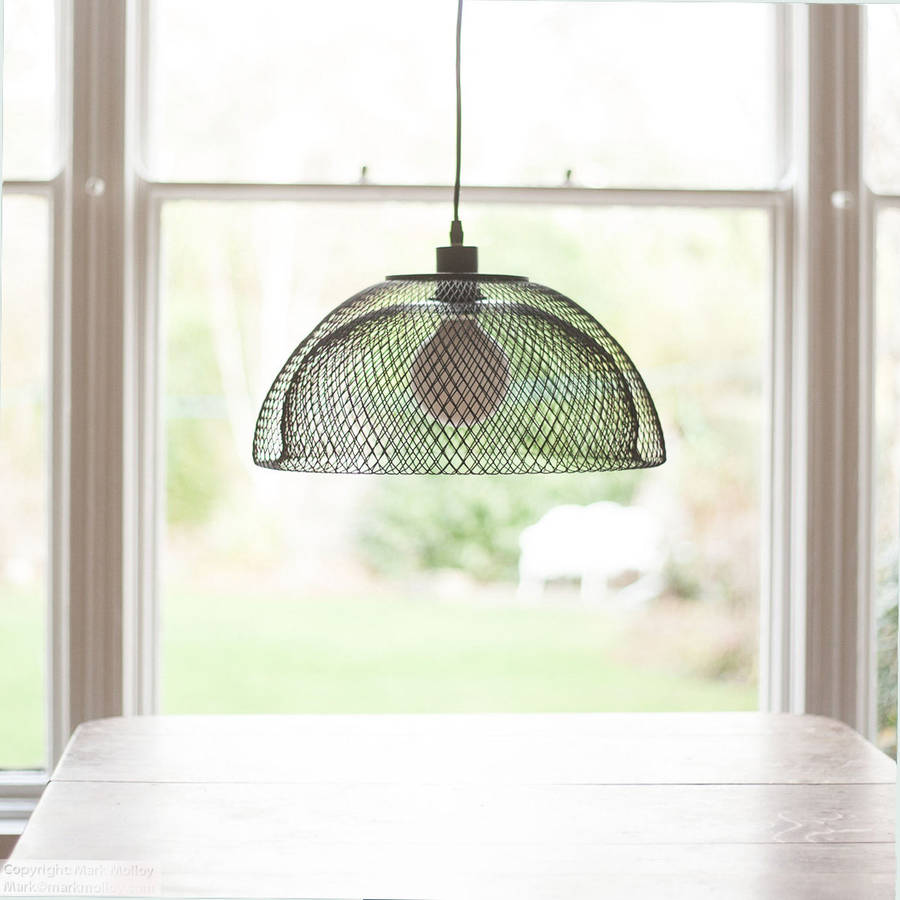 wire mesh lamp shade by grattify