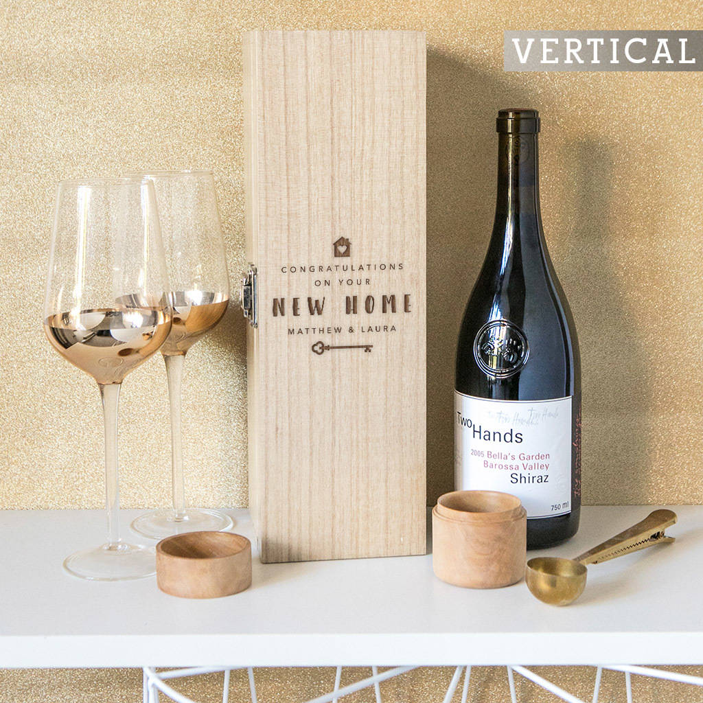 High End Housewarming Gifts Personalised Housewarming Wine Box By Dust And Things