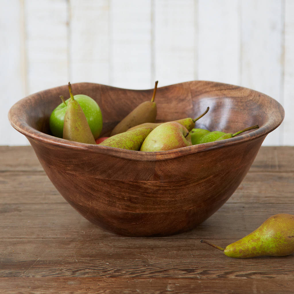 Bowl For Fruit Natural Wooden Fruit Bowl