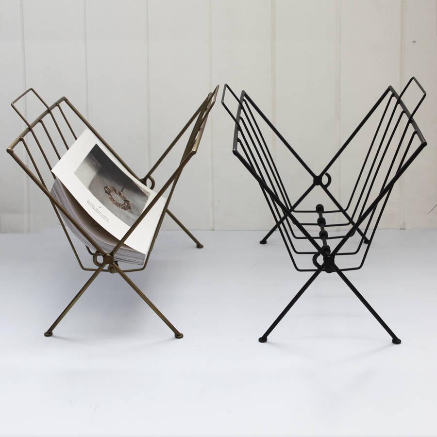 Black Wire Magazine Rack By Posh Totty Designs Interiors