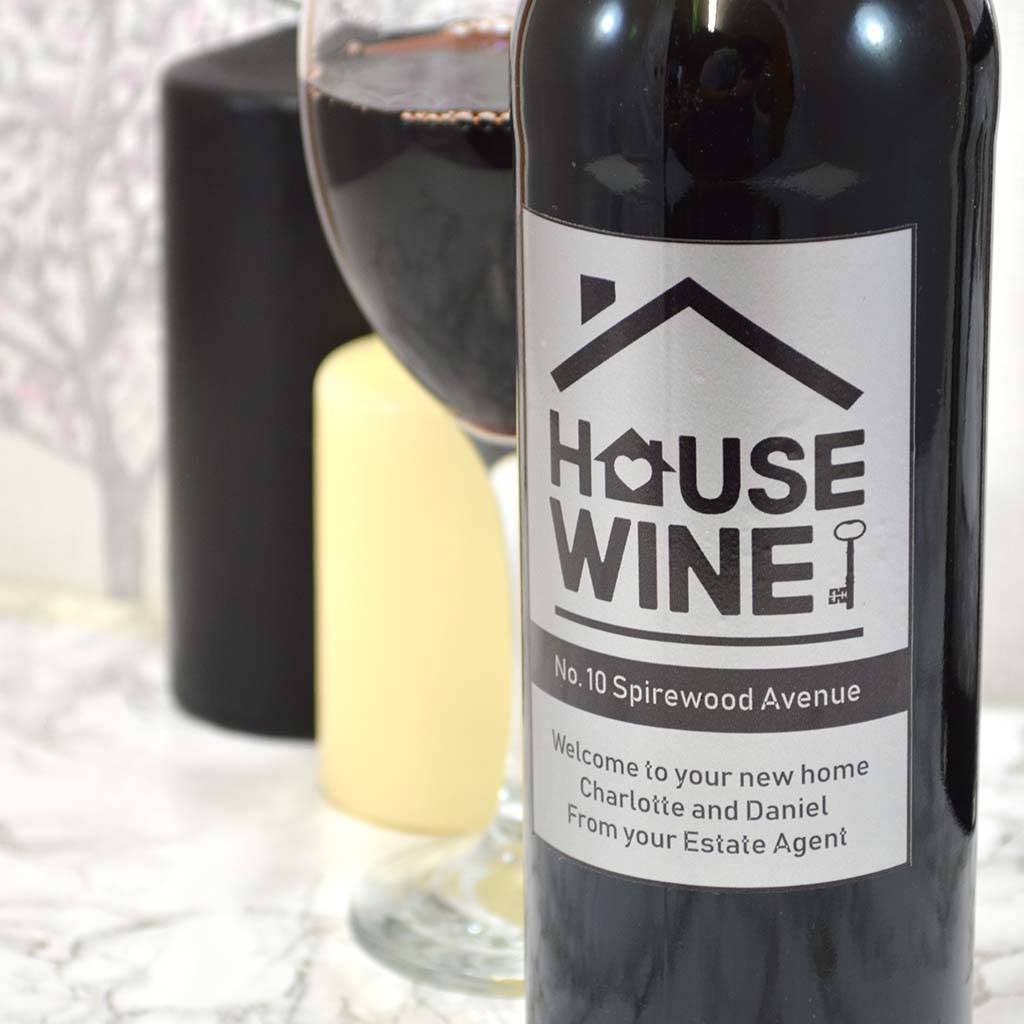 High End Housewarming Gifts Personalised House Wine Housewarming Gifts By