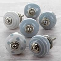 grey ceramic door knobs cupboard drawer pull handles by g ...