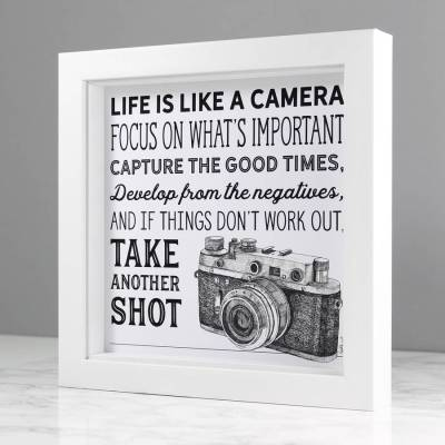 'life is like a camera' illustrated quote print by wit ...