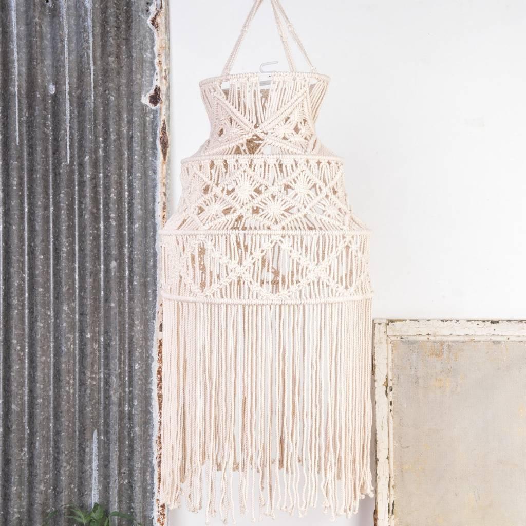 handmade macrame lampshade by ella james