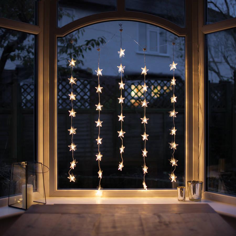 star christmas window curtain light by lights4fun
