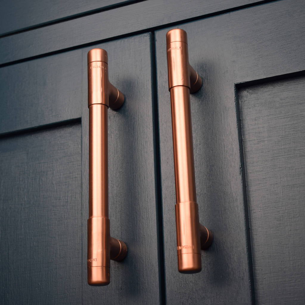 Bouton De Porte De Placard Copper Pull, T Bar By Proper Copper Design