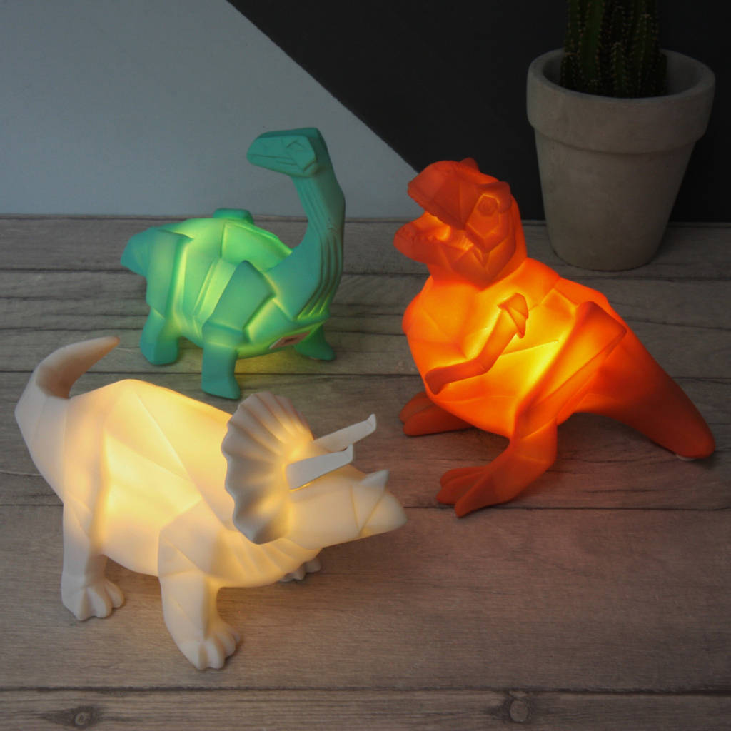 Park Lighting Floor Lamps Mini Led Origami Dinosaur Night Light By Lisa Angel