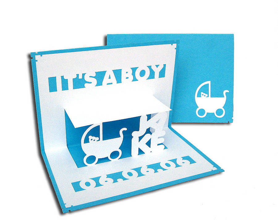 personalised \u0027it\u0027s a girl\u0027 or \u0027boy\u0027 card by ruth springer design