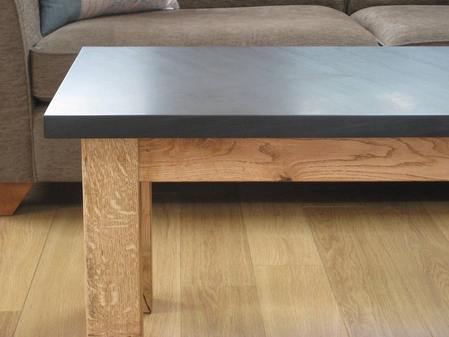 Slate And Oak Coffee Table By Grasi Notonthehighstreetcom
