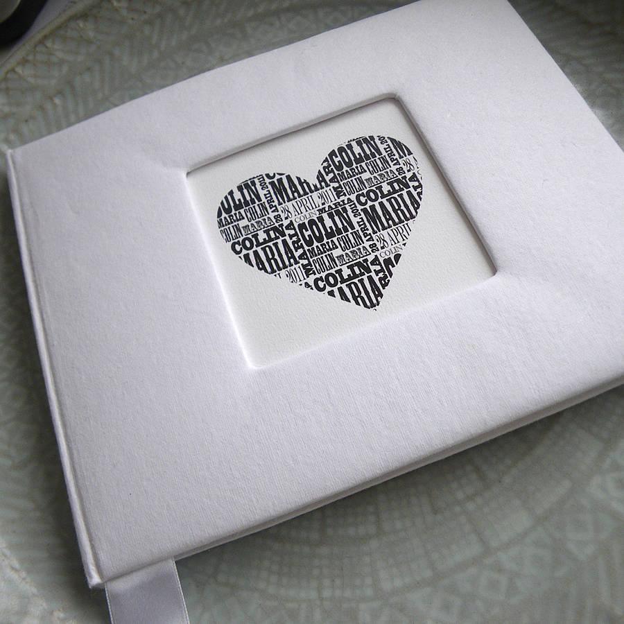 personalised wedding guest book wedding photo book Personalised Wedding Guest Book