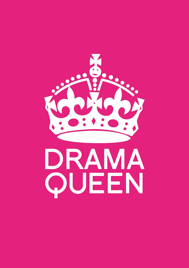 Cute Pink Wallpaper Quotes Drama Queen Poster By Blue Fox Prints