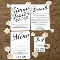 vintage style wedding stationery set by doodlelove ...