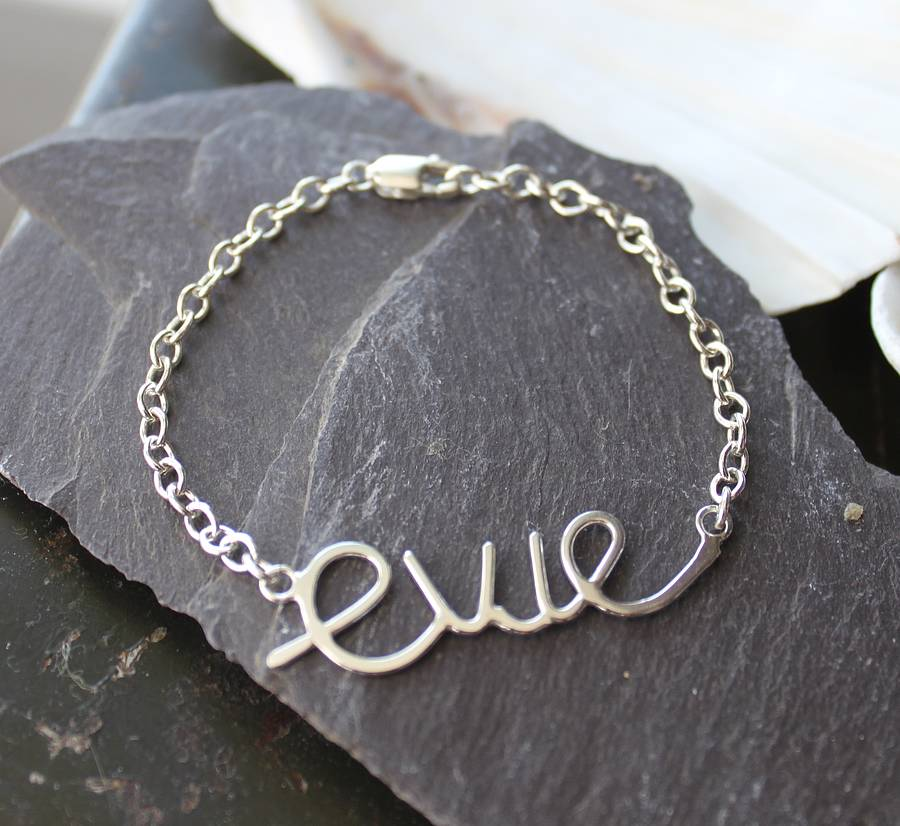 Personalised Baby39s Name Bracelet By Marie Walshe