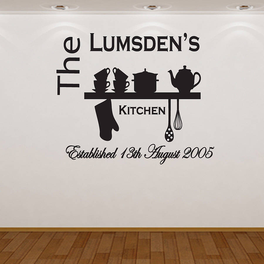 homepage almo wall art personalised kitchen wall sticker personalised kitchen wall sticker decals