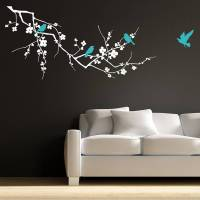 birds on branch wall stickers by parkins interiors ...