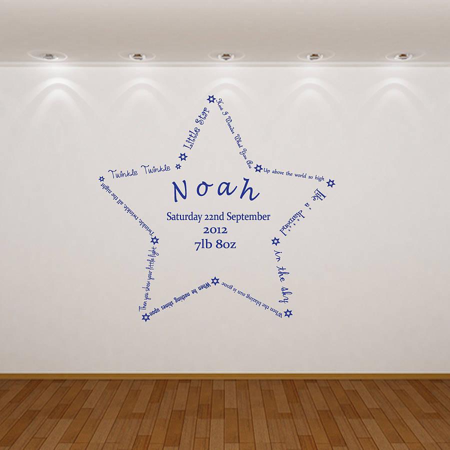 custom sticker wall art stickers personalised wall designer personalised name design your own download