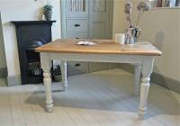 pine painted farmhouse kitchen table by distressed but not ...