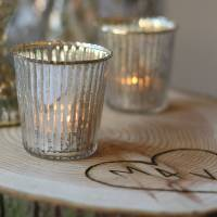 ribbed mercury glass tea light holder by the wedding of my ...