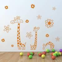 children's giraffe wall sticker set by oakdene designs ...